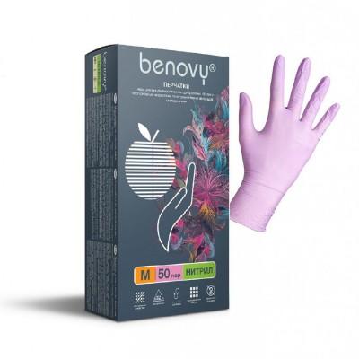 Медицинские перчатки нитриловые нестерильные BENOVY